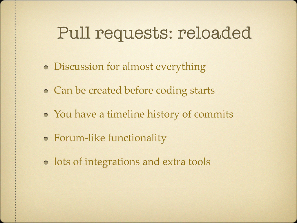 Pull requests: reloaded Discussion for almost e...
