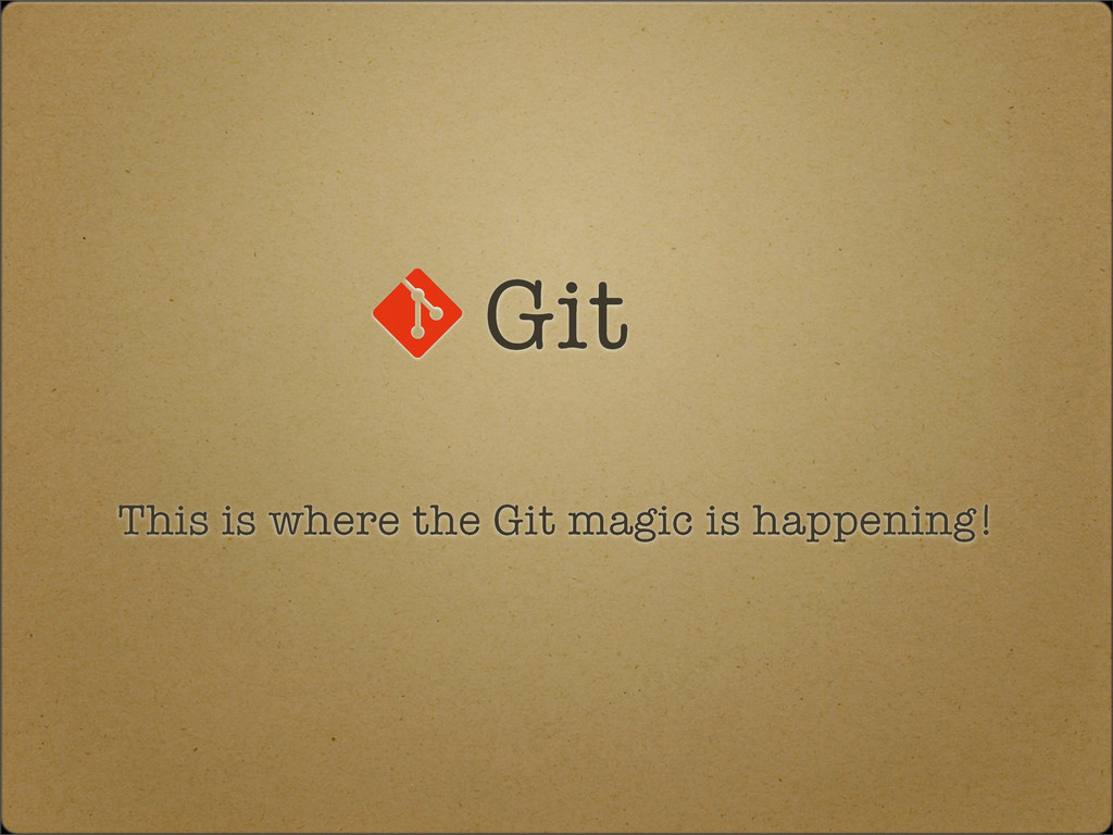 Git This is where the Git magic is happening!