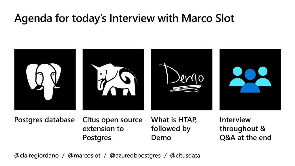 Agenda for today's Interview with Marco Slot Po...