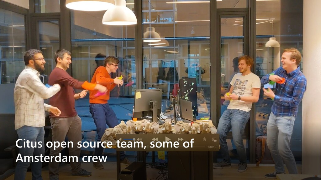 Citus open source team, some of Amsterdam crew