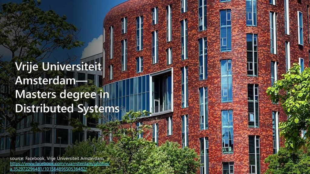 Vrije Universiteit Amsterdam— Masters degree in...