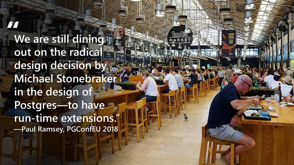 We are still dining out on the radical design d...