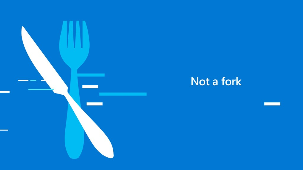 Not a fork