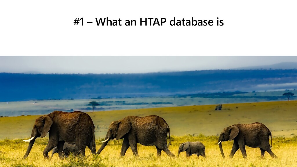 #1 – What an HTAP database is