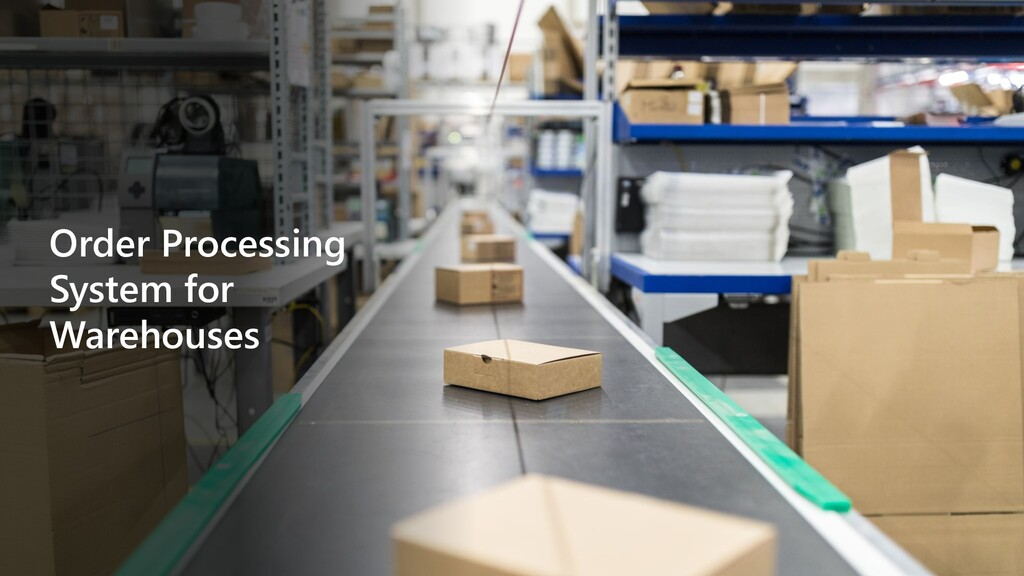 Order Processing System for Warehouses
