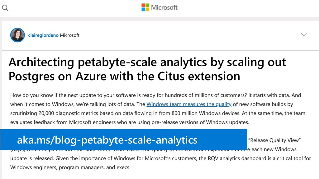 Architecting petabyte-scale analytics by scalin...