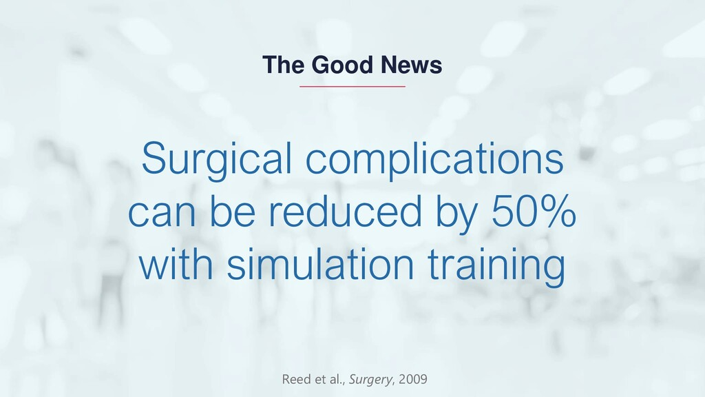 Surgical complications can be reduced by 50% wi...