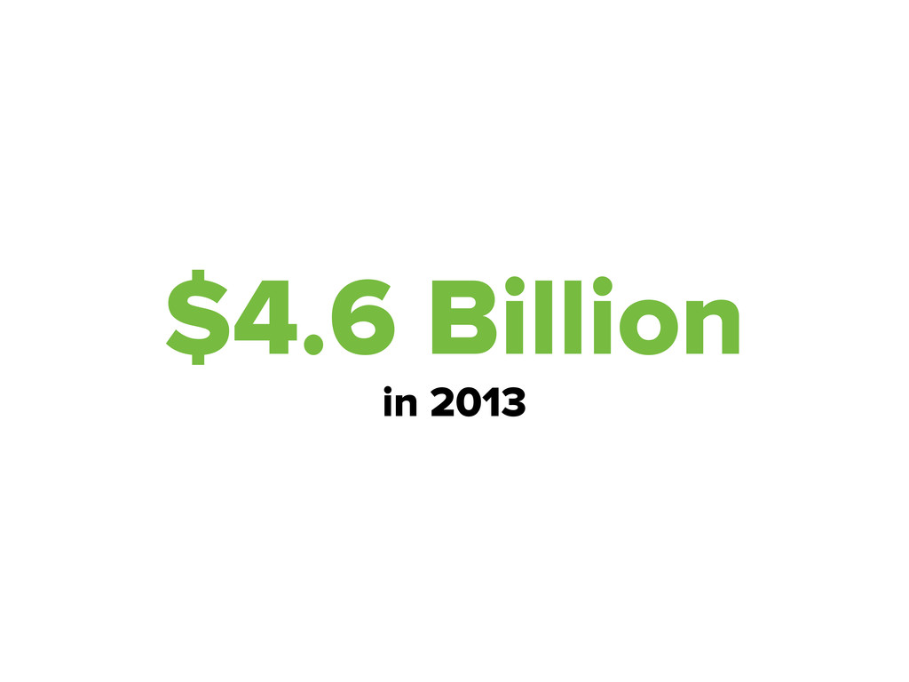 $4.6 Billion in 2013