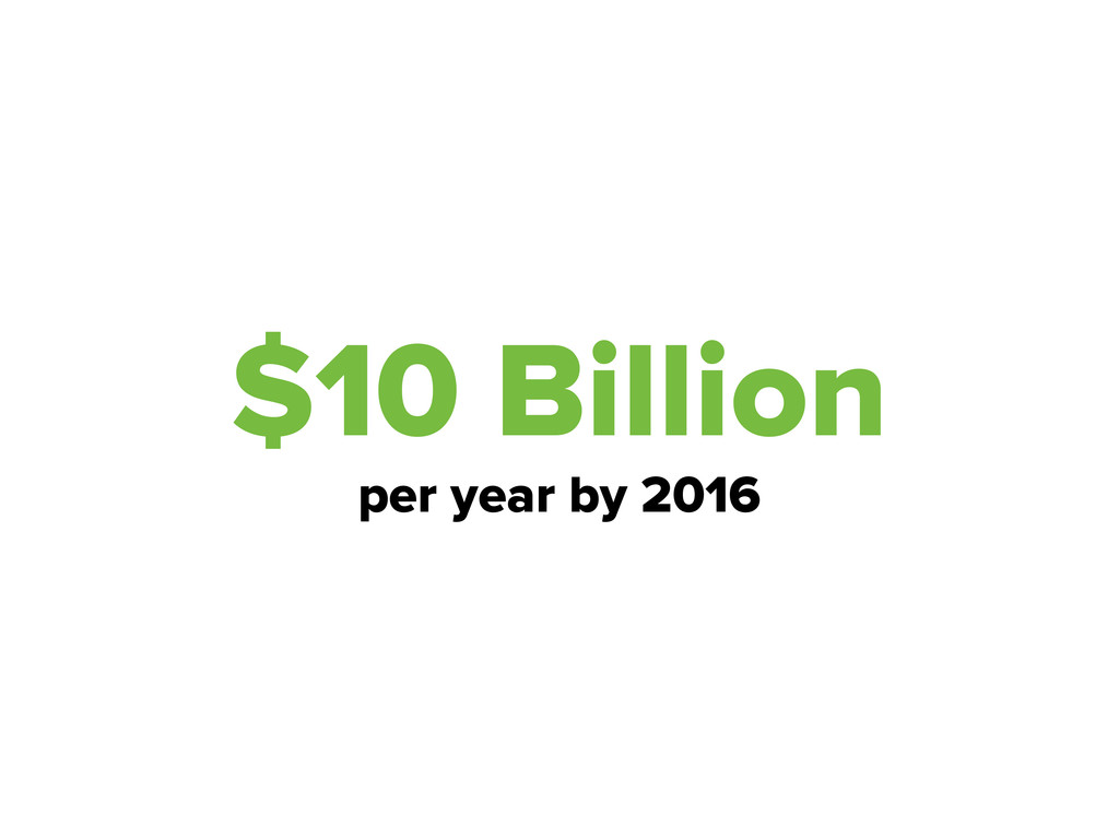$10 Billion per year by 2016