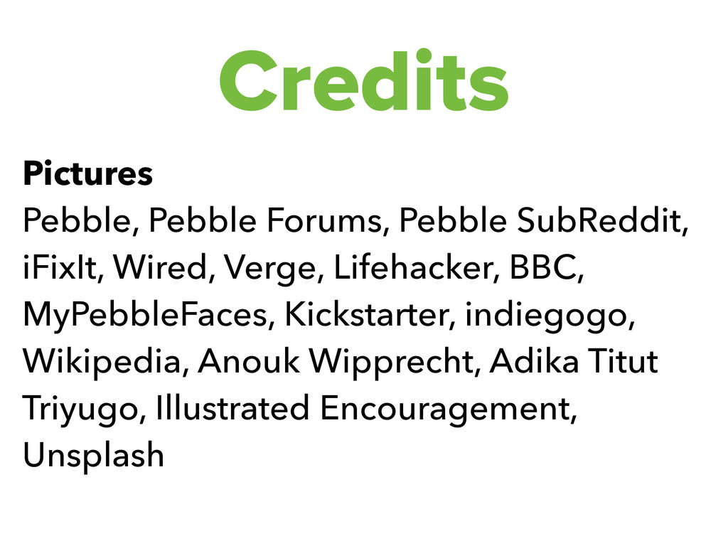 Credits Pictures Pebble, Pebble Forums, Pebble ...