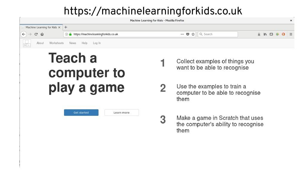 https://machinelearningforkids.co.uk