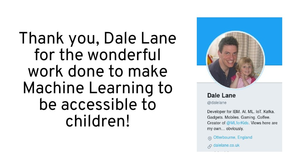 Thank you, Dale Lane, for the wonderful work do...