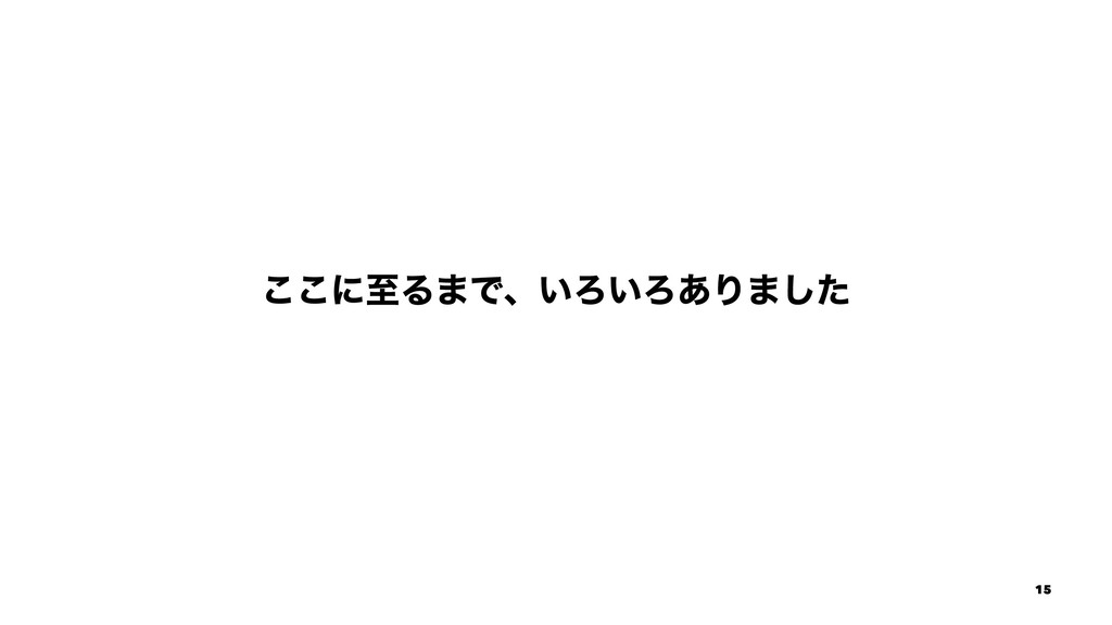 ͜͜ʹࢸΔ·Ͱɺ͍Ζ͍Ζ͋Γ·ͨ͠ 15
