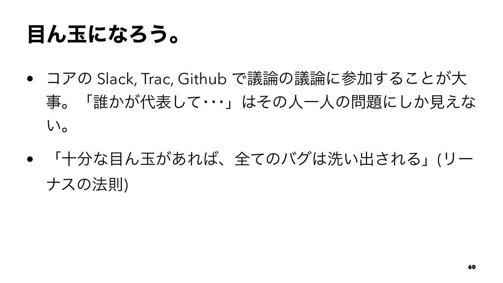 ΜۄʹͳΖ͏ɻ • ίΞͷ Slack, Trac, Github ͰٞͷٞʹՃ͢Δ͜...