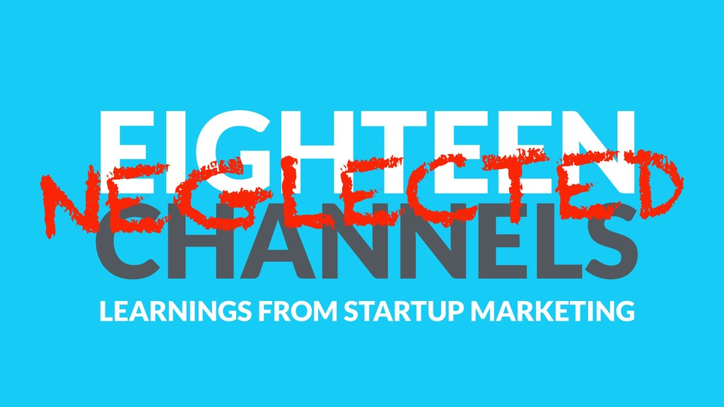 EIGHTEEN CHANNELS NEGLECTED LEARNINGS FROM STAR...