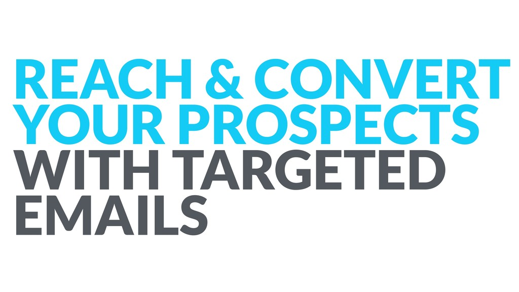 REACH & CONVERT YOUR PROSPECTS WITH TARGETED EM...