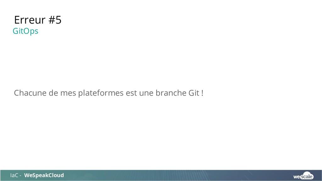 Chacune de mes plateformes est une branche Git ...