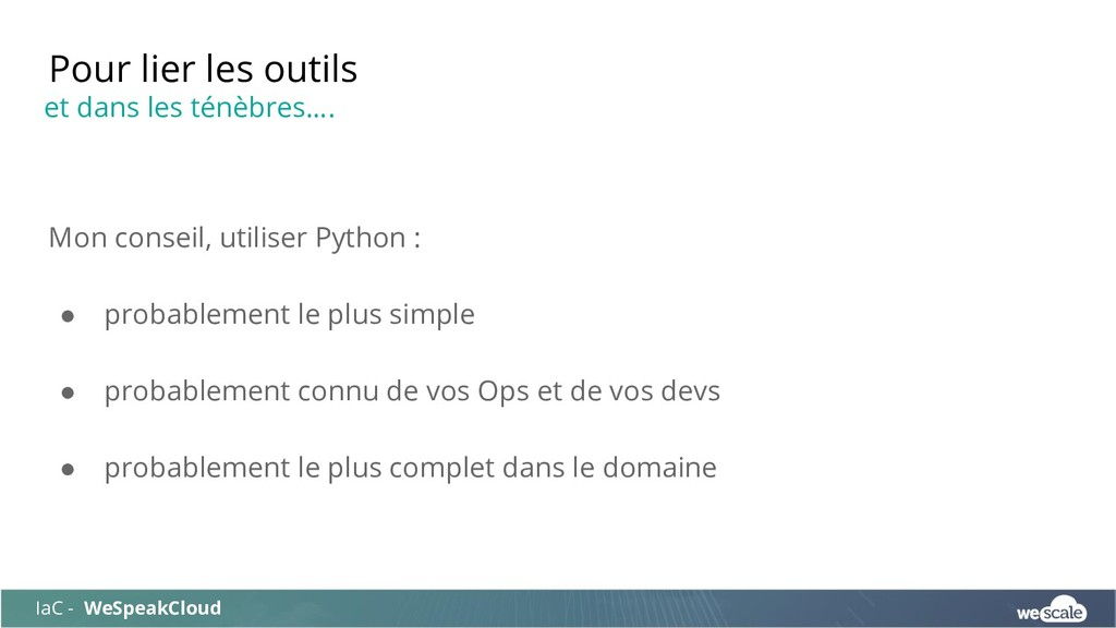 Mon conseil, utiliser Python : ● probablement l...