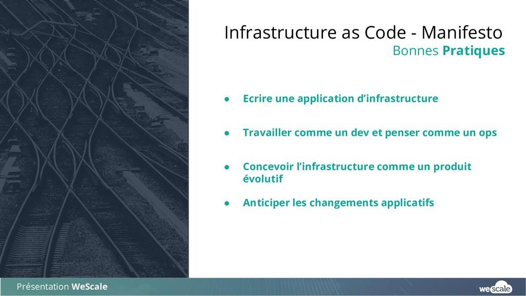 ● Ecrire une application d'infrastructure ● Tra...