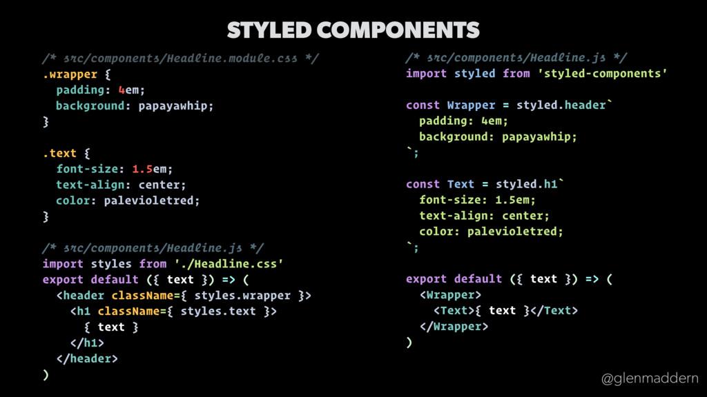 @glenmaddern /* src/components/Headline.js */ i...