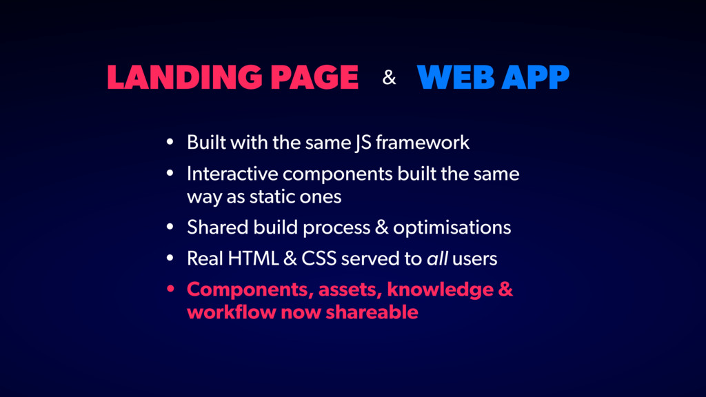 LANDING PAGE WEB APP • Built with the same JS f...