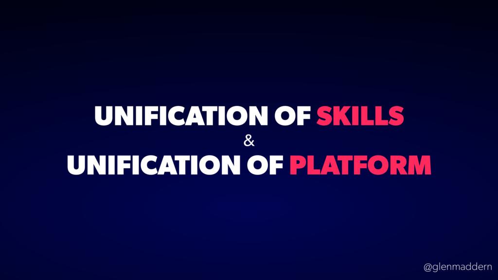 @glenmaddern UNIFICATION OF SKILLS & UNIFICATIO...