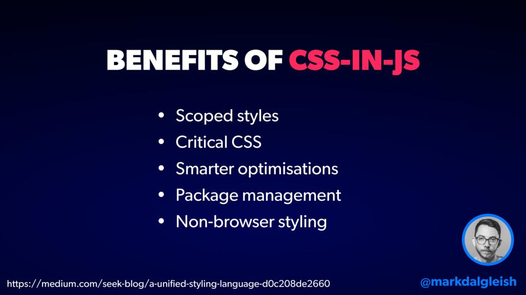 • Scoped styles • Critical CSS • Smarter optimi...