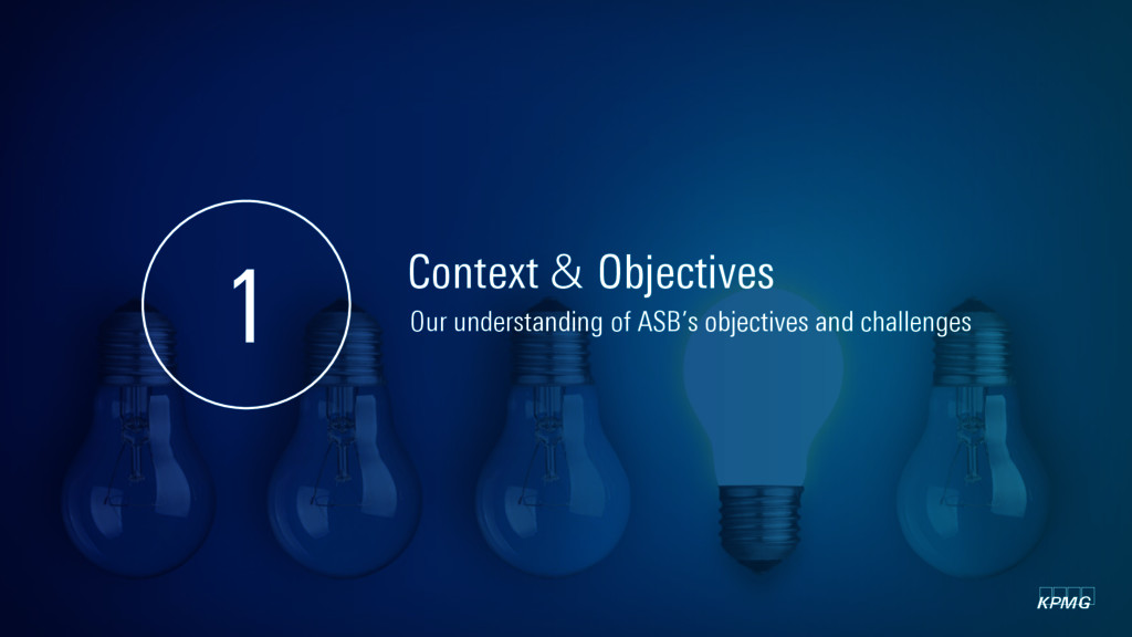 kpmg Context & Objectives 1 Our understanding o...