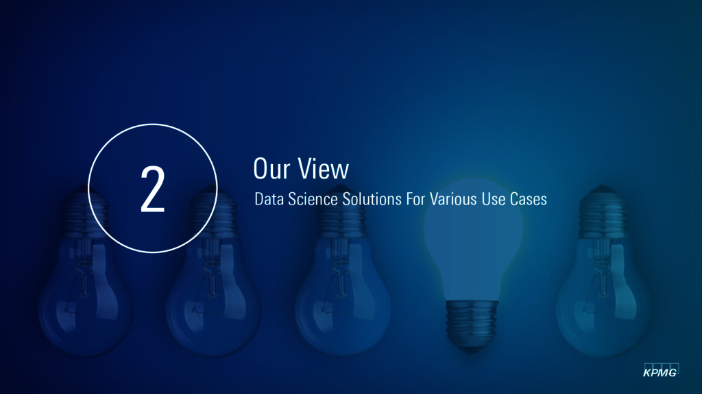 kpmg Our View 2 Data Science Solutions For Vari...