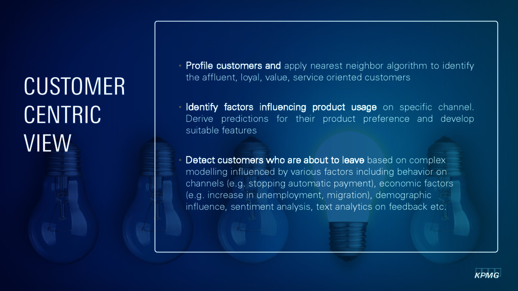 • Profile customers and apply nearest neighbor ...