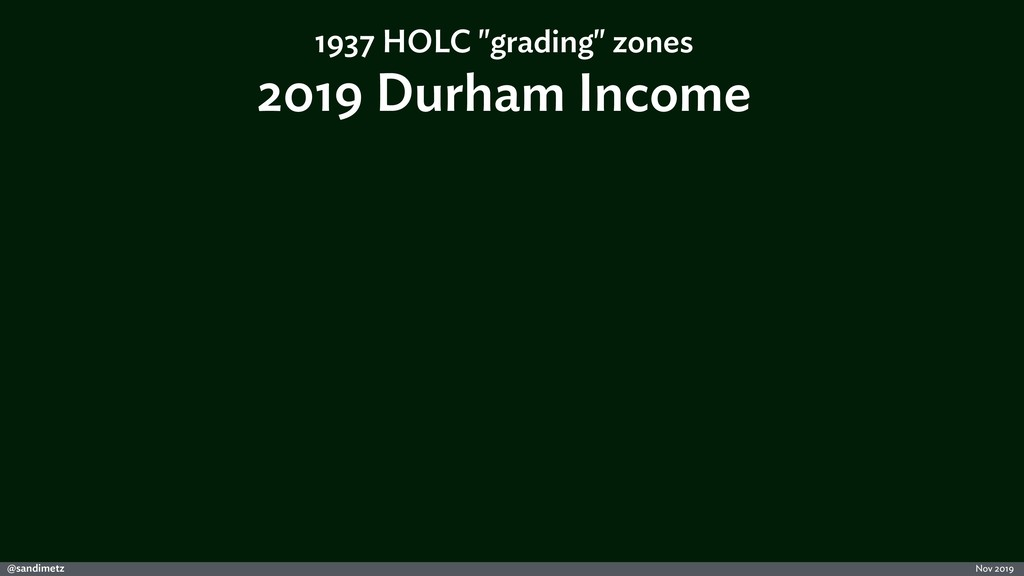 @sandimetz Nov 2019 2019 Durham Income 1937 HOL...