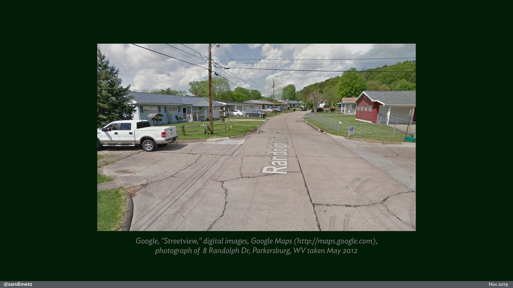 "@sandimetz Nov 2019 Google, ""Streetview,"" digit..."