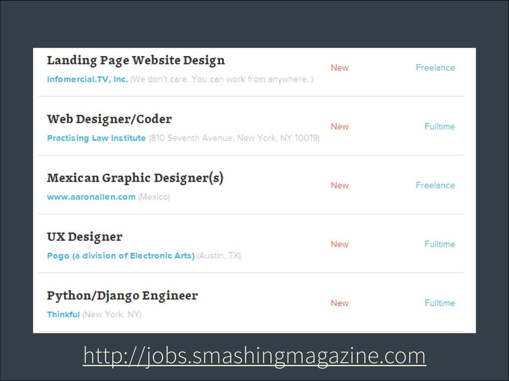 http://jobs.smashingmagazine.com