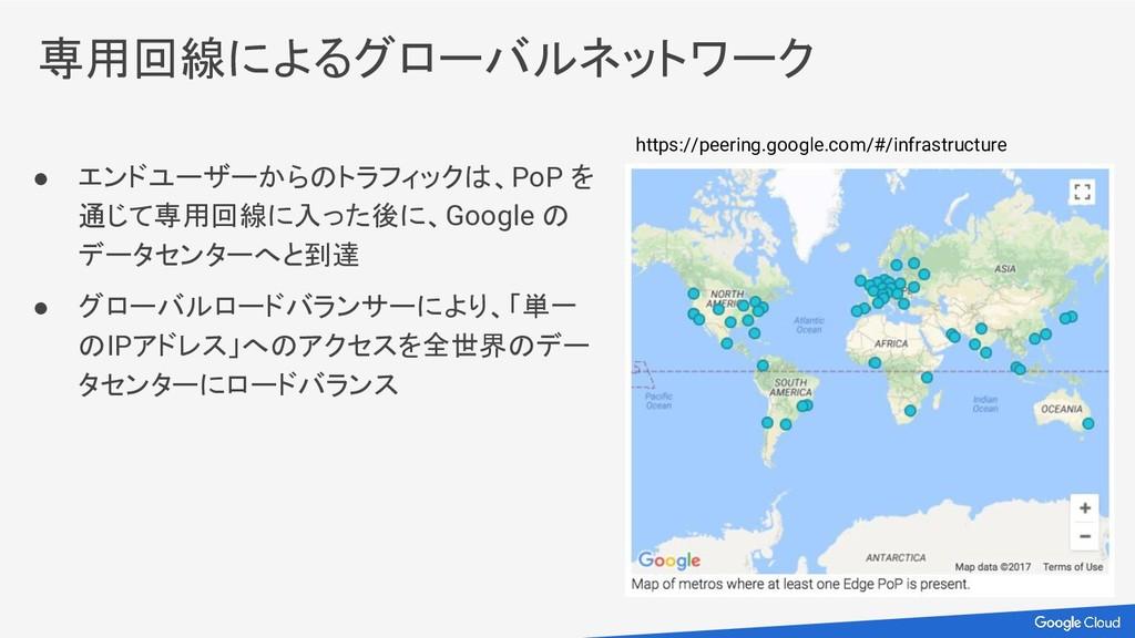 ● エンドユーザーからのトラフィックは、PoP を 通じて専用回線に入った後に、Google ...
