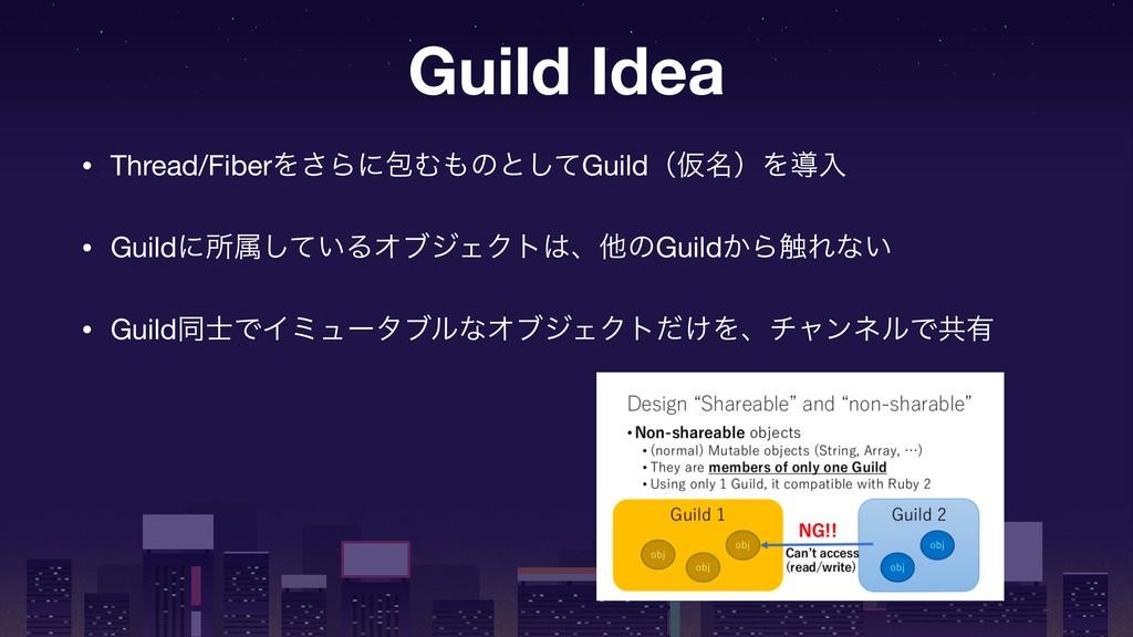 Guild Idea • Thread/FiberΛ͞ΒʹแΉͷͱͯ͠GuildʢԾ໊ʣΛಋ...
