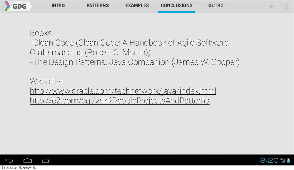 Books: -Clean Code (Clean Code: A Handbook of A...