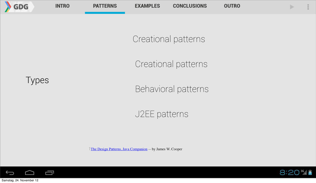 Types Creational patterns 1The Design Patterns,...