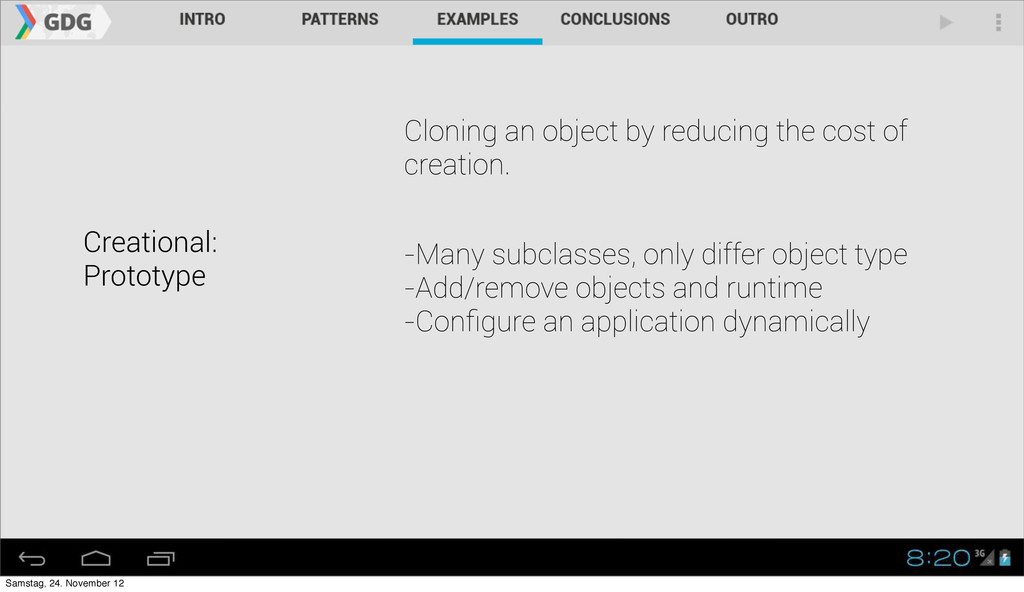 Creational: Prototype Cloning an object by redu...