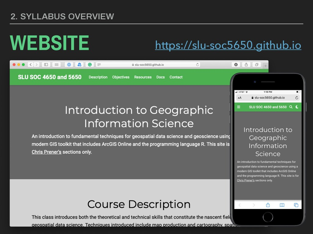 COURSE OBJECTIVES 1. Geographic Information Sci...