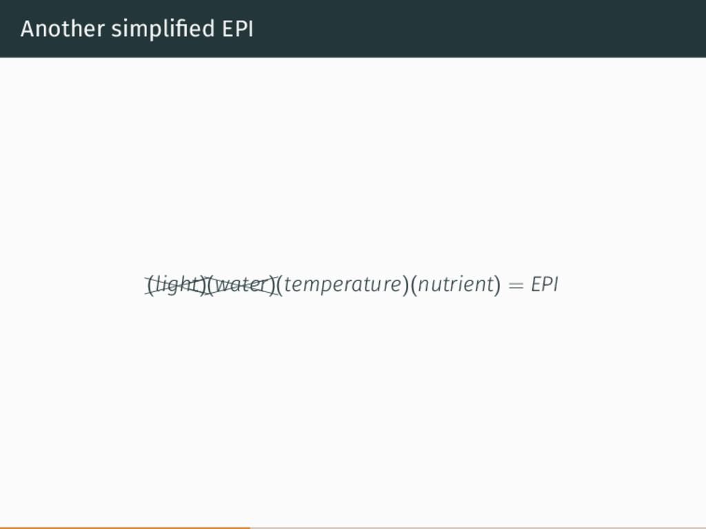 Another simplified EPI   XXX X (light)  ...
