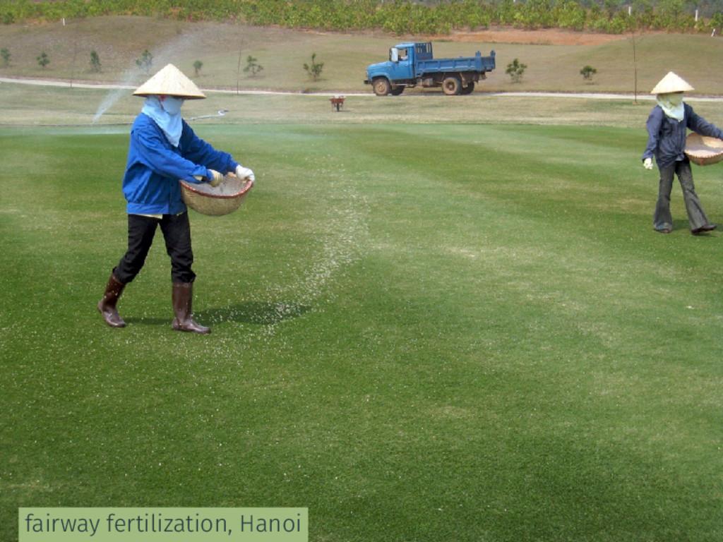 fairway fertilization, Hanoi
