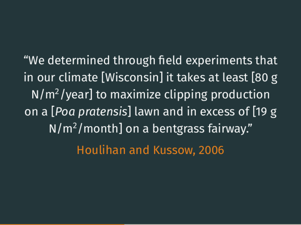 """""""We determined through field experiments that in..."""