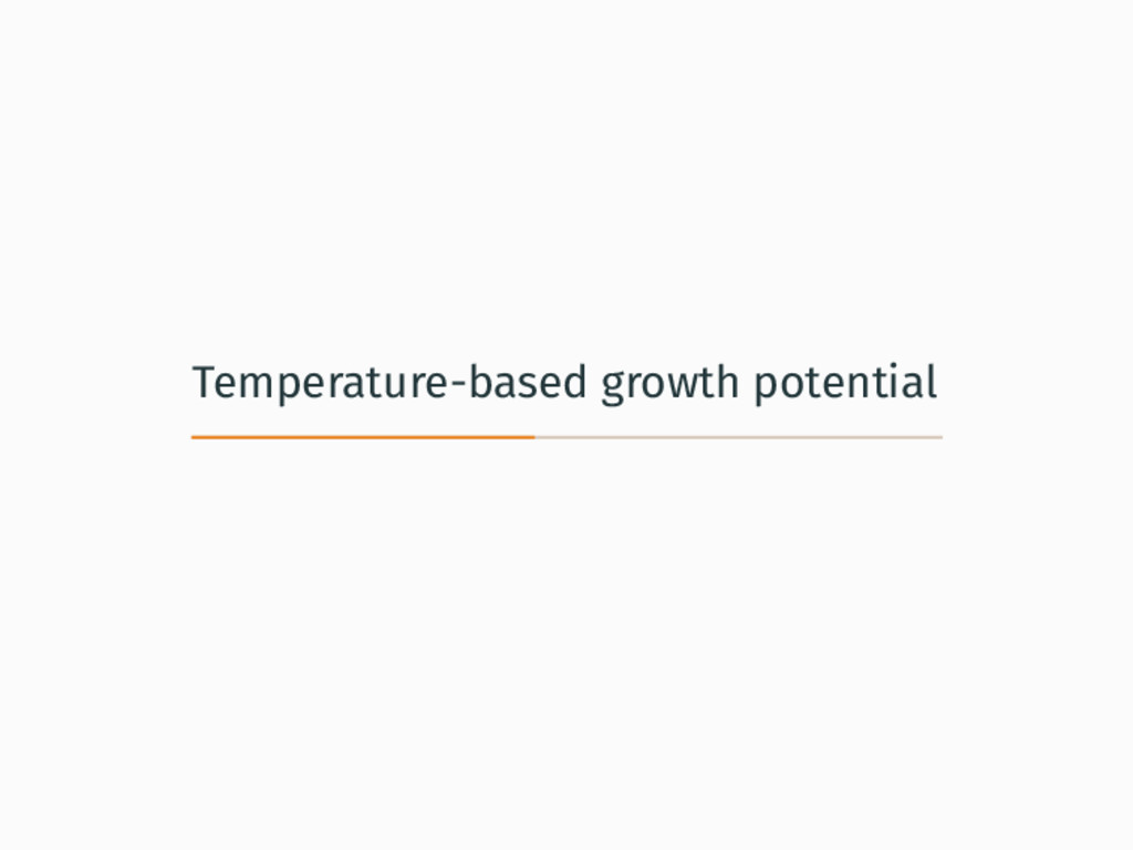 Temperature-based growth potential