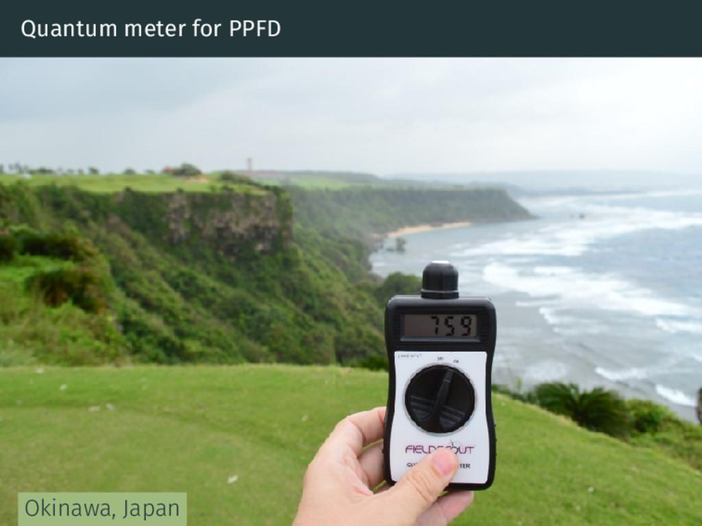 Quantum meter for PPFD Okinawa, Japan