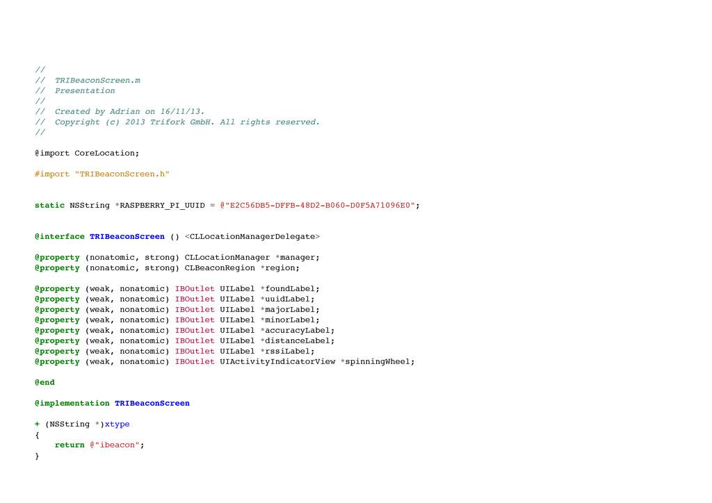 // // TRIBeaconScreen.m // Presentation // ...