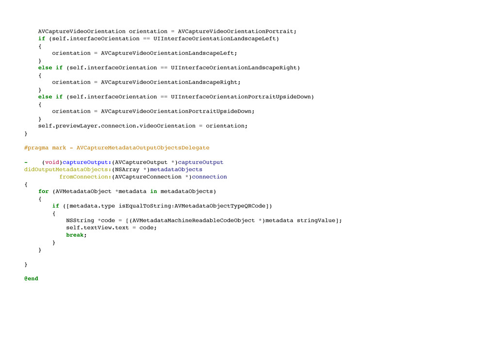 AVCaptureVideoOrientation orientation = AVCaptu...
