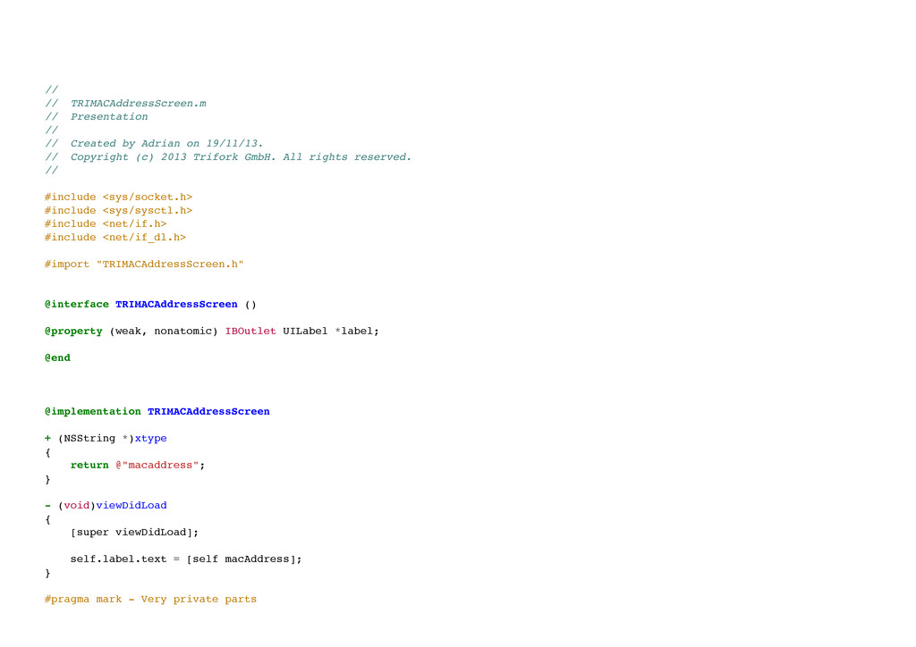 // // TRIMACAddressScreen.m // Presentation ...