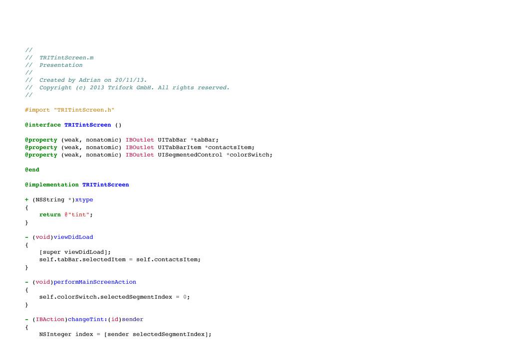 // // TRITintScreen.m // Presentation // //...