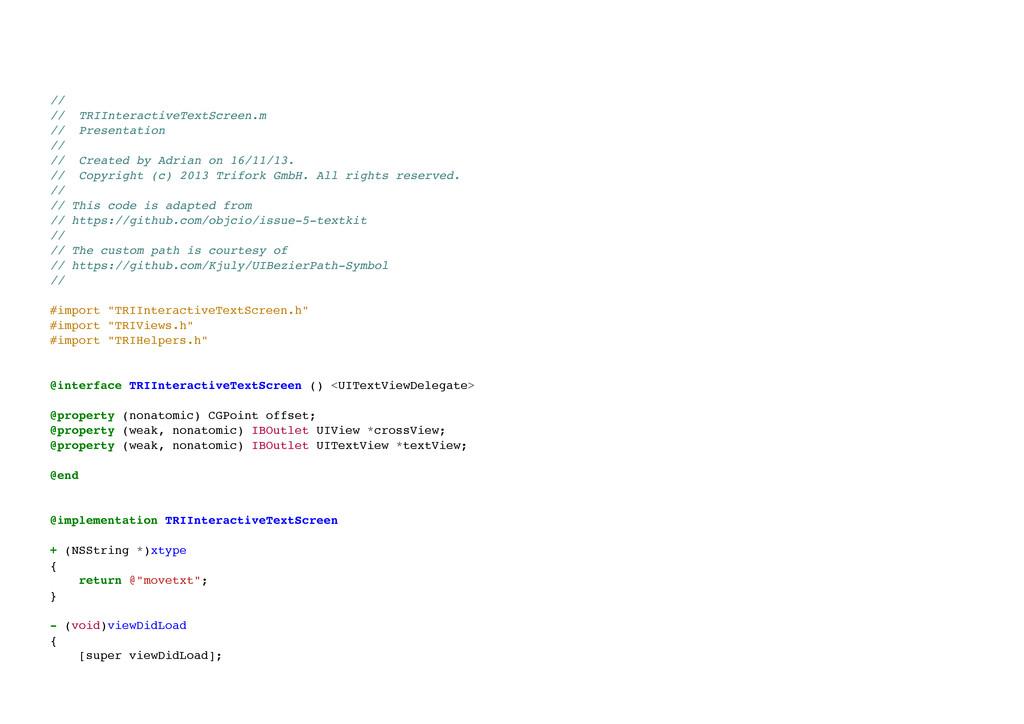// // TRIInteractiveTextScreen.m // Presentat...
