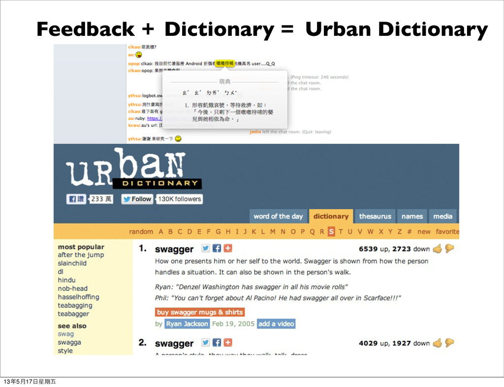Urban Dictionary Feedback + Dictionary = 13年5月1...